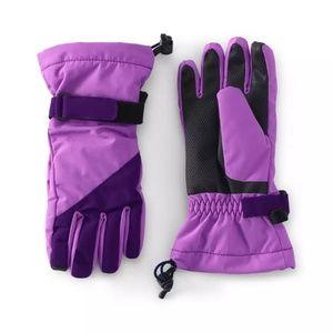 Lands' End - Purple Waterproof Squall Gloves